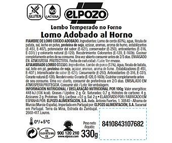 ElPozo Lomo al horno adobado, bajo en grasa y sin gluten ni lactosa 330 gr