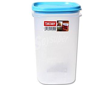TATAY Taper cuadrado de plástico, apto para lavavajillas y microondas, 1 litro 1 Unidad