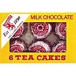 Pastelitos de té con chocolate con leche Pack 6 unidades Tunnock's