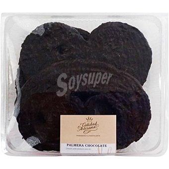 CALIDAD ARTESANA Palmera de chocolate producción propia bandeja 300 g 3 unidades
