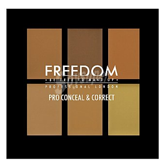 Freedom Paleta 6 coloretes correctores medium/dark 1 ud