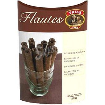 Trias Flautas de barquillo cubiertas de chocolate Caja 225 g