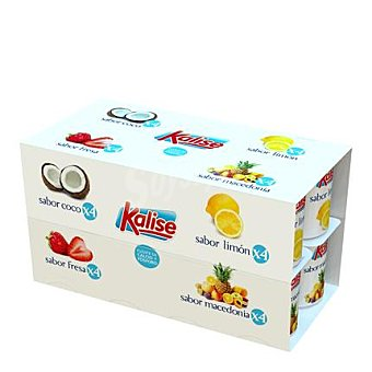 Kalise Yogur sabor coco, fresa, limón y macedonia Pack de 16x125 g