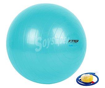 FYTTER Pelota de goma de color azul para pilates y fitness modelo AGB-75, 75 centímetros de diámetro 1 Unidad