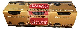 PEÑA NEGRA Paté ibérico Lata pack 3 unidades (750 g)