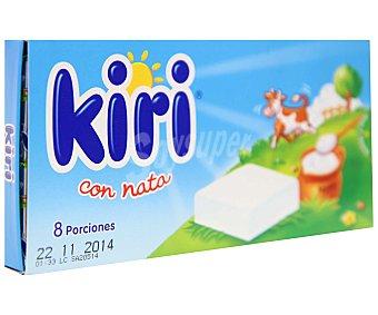 Kiri Queso con nata en porciones, 144 gramos, 8 unidades 144g 8u