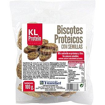Ynsadiet KL Protein biscotes proteicos con semillas envase 100 g envase 100 g