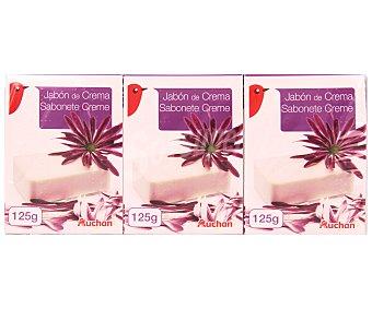 Auchan Jabón en Pastilla de Baño 3 Unidades de 125 Gramos