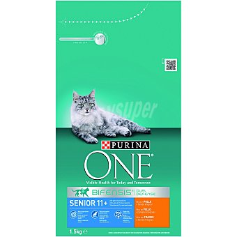 Purina One Pienso para gatos adultos feline senior con pollo Bolsa 1,5 kg