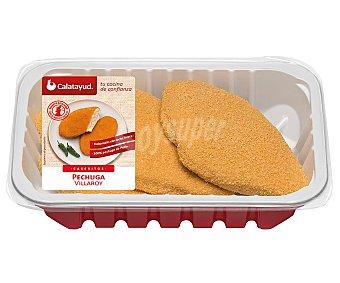 Calatayud Bandeja de pechugas de pollo estilo Villaroy caseritos 340 gramos aproximados