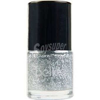 belle & MAKE-UP Laca de Uñas 23 Silver Snow edlim Navidad 8ml