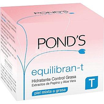 POND'S Equilibran-T Crema hidratante control grasa con extractos de pepino y aloe vera tarro 50 ml piel mixta a grasa Tarro 50 ml