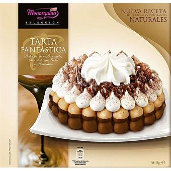 KALISE MENORQUINA Tarta Fantástica Dulce de leche caramelo chocolate con leche y almendras Estuche 1070 ml