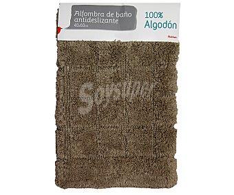 Auchan Alfombra nudo antideslizante color beige, 40x60 centímetros 1 Unidad