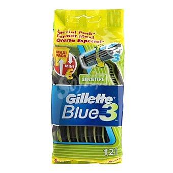 Gillette-Blue 3 Maquina desechable 12 ud