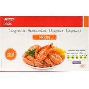 Eroski Basic Langostino cocido 40/48 piezas Caja 800 g