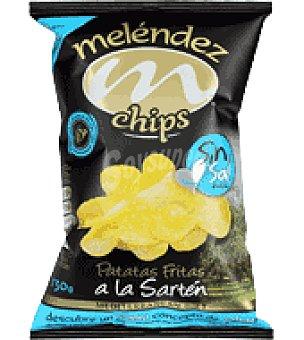 Melendez Patatas chips en aceite de oliva sin sal 130 g