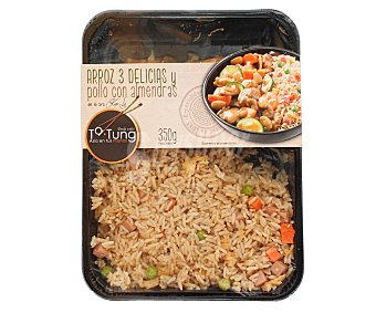 Ta Tung Bandeja de arroz 3 delicias y pollo con almendras 350 g