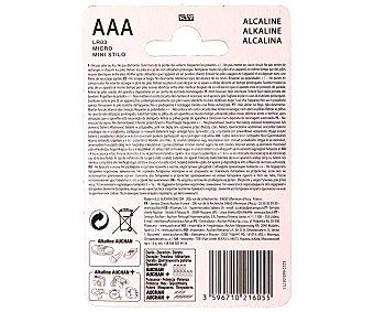 Auchan Pila alcalinas AAA LR03 1,5V 4 unidades