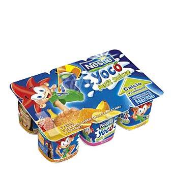 Nestlé Petit de fresa, plátano y albaricoque Pack de 6x50 g