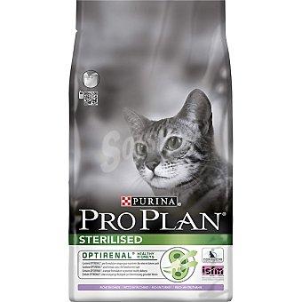 Purina Pro Plan Sterilised adult optirenal pienso para gatos adultos esterilizados rico en salmón bolsa 1,5 kg para mantener los riñones sanos Bolsa 1,5 kg