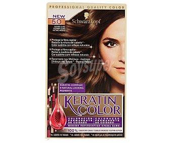 Keratin Color Schwarzkopf Coloración Permanente nº 5.0 Castaño Claro 1 unidad