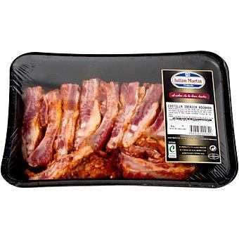 JULIAN MARTIN Costillas de cerdo ibérico adobadas cortadas bandeja peso aproximadamente 750 g