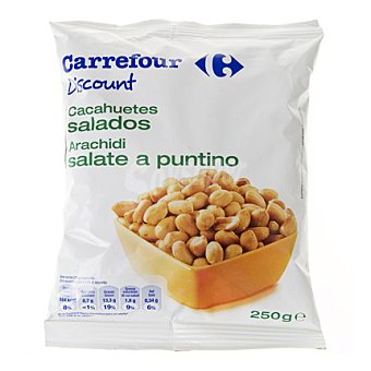 Carrefour Discount Cacahuete frito sin piel 250 g