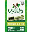 Snacks dentales para perros entre 2-7 kg Envase 22 unidades Greenies