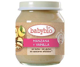 BabyBio Tarrito de manzana y vainilla ecológico sin gluten Tarro 130 g