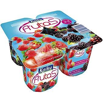 Kaiku Yogur con frutas 2 con moras+ 2 con fresas Pack 4 unidades 125 g