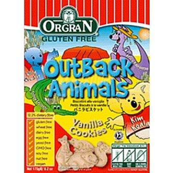ORGRAN Free From Galletas de vainilla con formas de animales sin gluten Envase 175 g