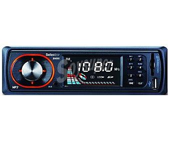SELECLINE 841676 Autoradio (producto económico alcampo), 2x25W USB y lector de tarjetas