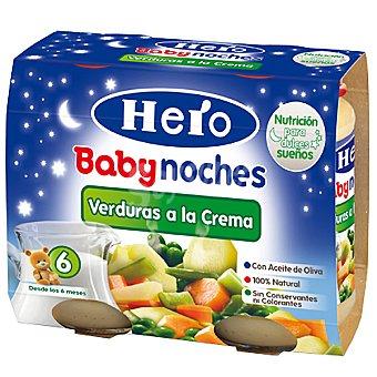 Hero Baby Tarrito crema de verduras con pasta Noches pack 2x200 g estuche 400 g