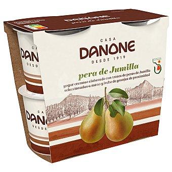Danone Yogur con pera de jumilla sin gluten Pack de 4 unidades de 115 g