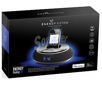 Energy docking 100 Altavoz despertador Para ipod/iphone con radio FM y line-in