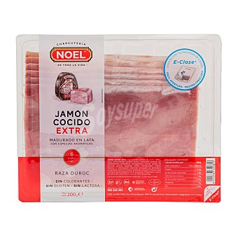 Noel Jamón cocido extra Noel lonchas Paquete 200 g