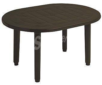 PLASMIR Mesa oval, de resina wengue y 130x90x72 centímetros 1 unidad