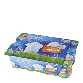 Carrefour Yogur natural azucarado Pack de 8x125 g