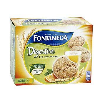 Fontaneda Galletas Digestive Soja y Naranja Caja 600 g (2 envases x 20 galletas)