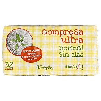 Deliplus Compresa absorcion normal ultra plegada Paquete 32 u