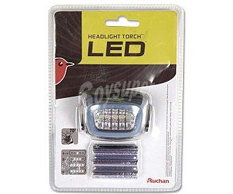 Auchan Linterna frontal con 5 bombillas leds y funcionamiento mediante pilas 3xAAA (incluidas) 1 unidad