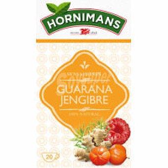 Hornimans Infusión con guarana Caja 20 sobres