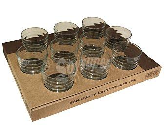 TOBRUK Vasos con capacidad de 29 cl y fabricados en vidrio transparente 10 unidades