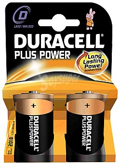 Duracell Duracel LR20/ MN1300 - Pilas alcalinas Plus Power Dlr - 20, 2 unidades 2 unidades