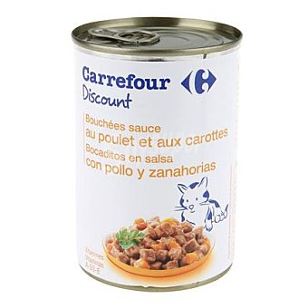 Carrefour Discount Bocaditos para gatos de pollo 400 gr