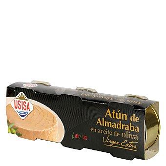 Usisa Atún de Almadraba en aceite de oliva Virgen Extra Pack de 3 unidades de 52 g