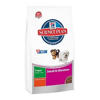 Hill's Science plan puppy small& mini pienso superior para perros cachorros -1 año de raza mini bolsa 3 kg con pollo y pavo Bolsa 3 kg