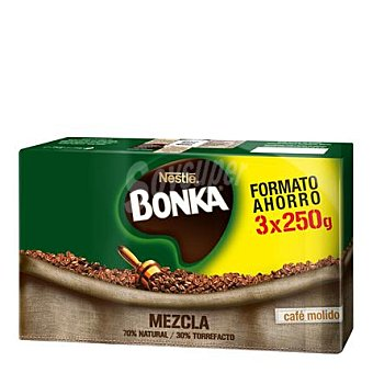 Bonka Nestlé Café molido mezcla 3x250 g