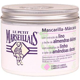 LE PETIT MARSEILLAIS mascarilla con extracto de lino y leche de almendras dulces para cabello largo  tarro 300 ml